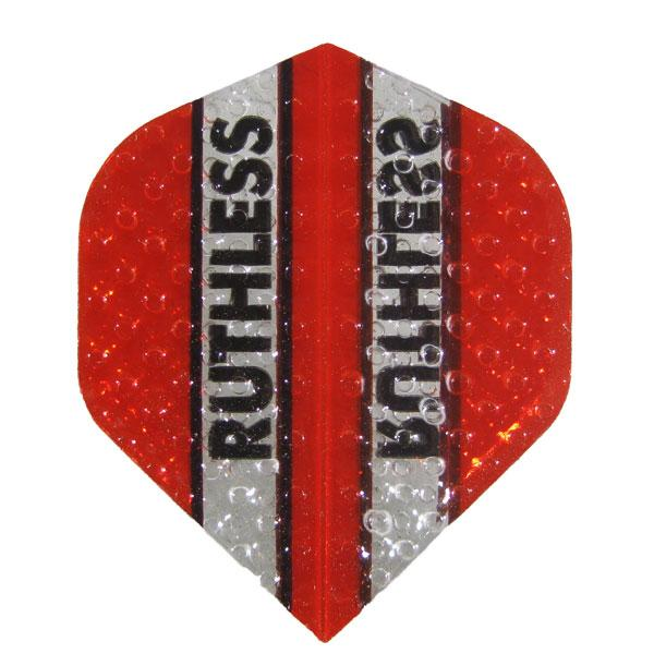 Ruthless Dimplex Clear Panel Flights - Red