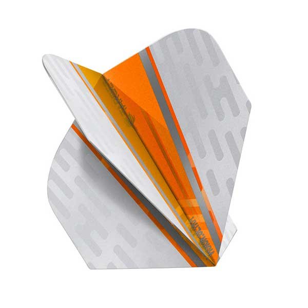 Target Vision Ultra White Wing Dart Flights - Orange No.6