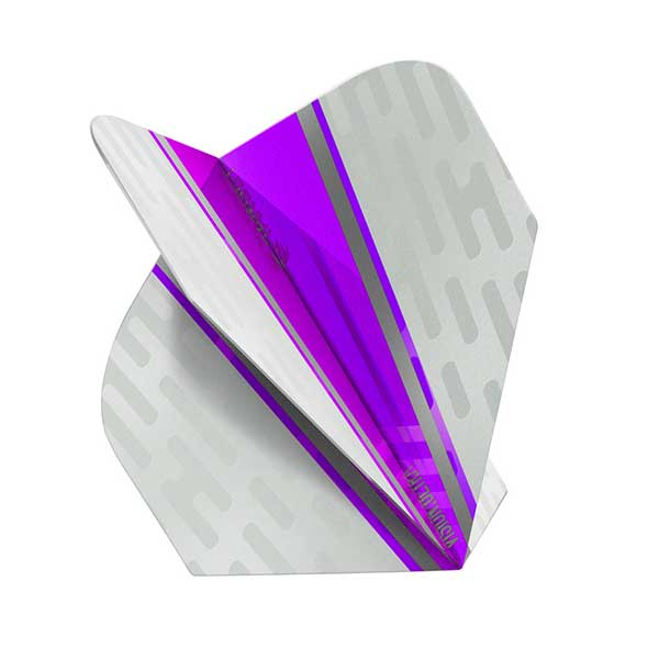 Target Vision Ultra White Wing Dart Flights - Purple No.6