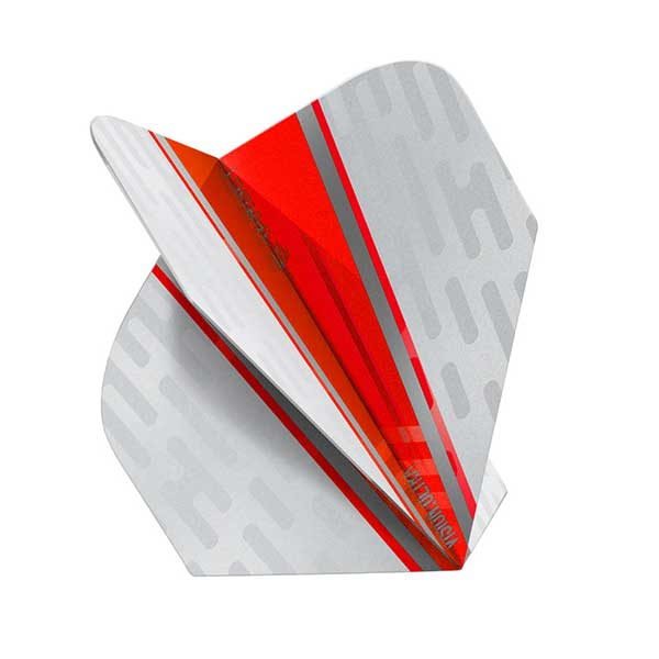 Target Vision Ultra White Wing Dart Flights - Red No.6