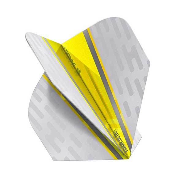 Target Vision Ultra White Wing Dart Flights - Yellow No.6
