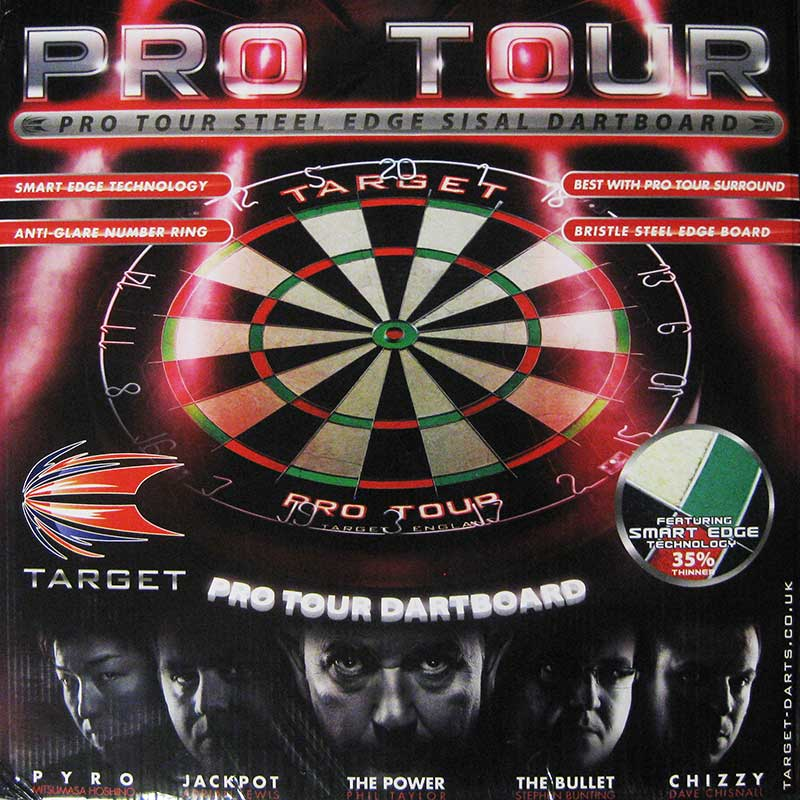 Target Pro Tour Dartboard, Endorsed by the World's Best Players