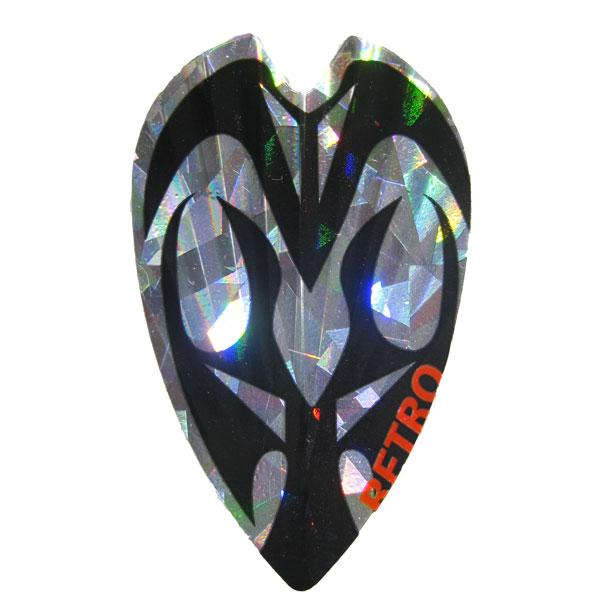 Retro Holographic Vortex Flights - Black Silver