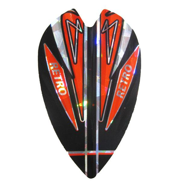 Retro Holographic Vortex Flights - Red Black