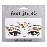 Glitter Rhinestone Face Crystal Stickers - 25 Designs Available!