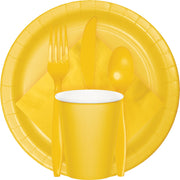 School Bus Yellow Tableware