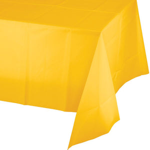 School Bus Yellow Plastic Tablecover 1 ct