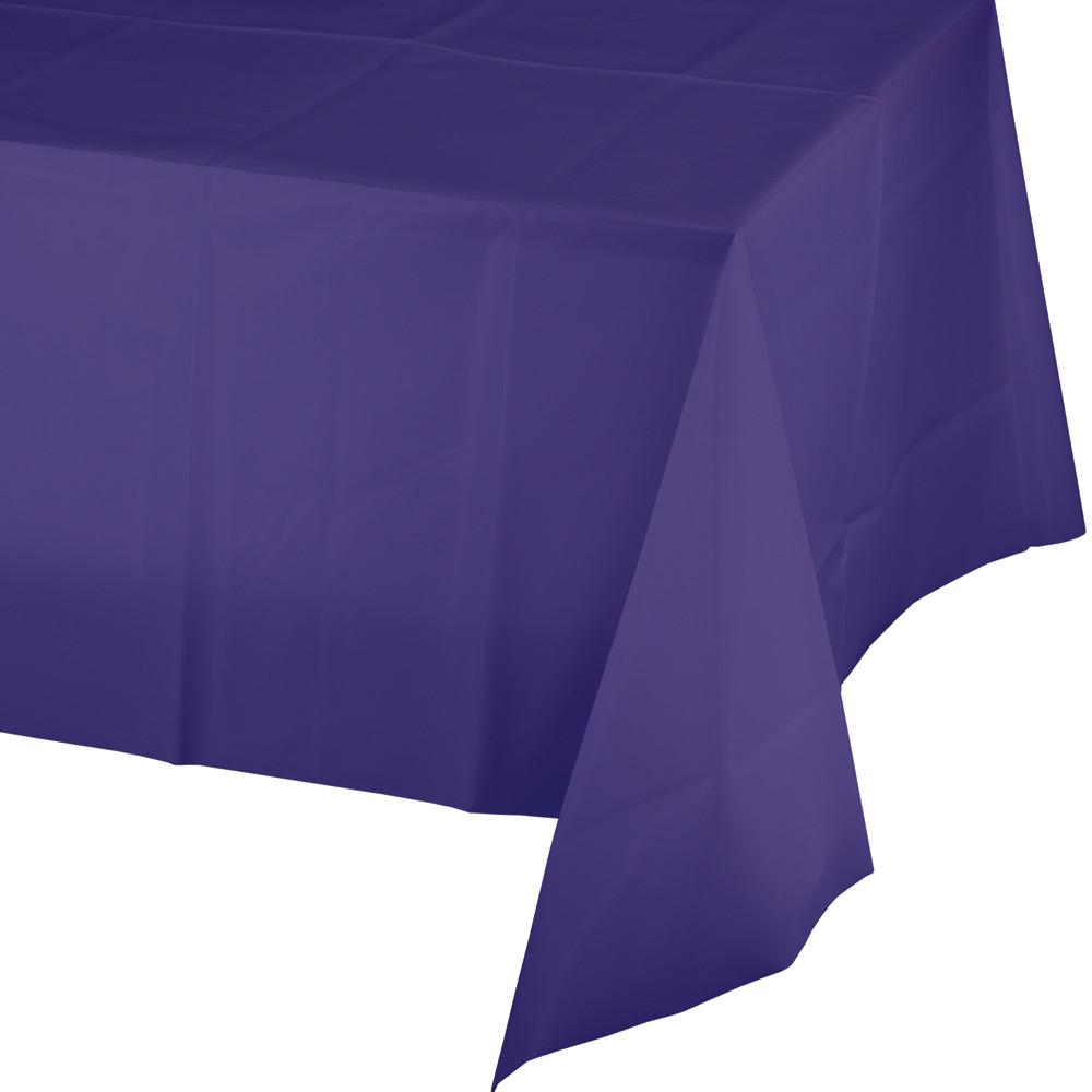 Purple Plastic Tablecover 54 in X 108 in 1 ct.