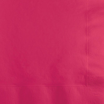 Hot Pink Beverage Napkins 50 ct .