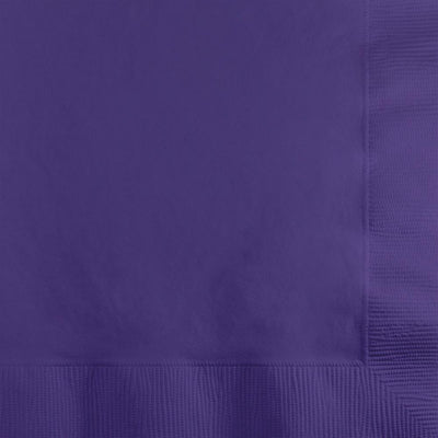 Purple Beverage Napkins 50 ct.