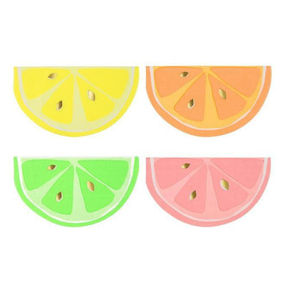 Neon Citrus Beverage Napkins 16 ct.