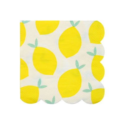 Lemon Beverage Napkins 20 ct.
