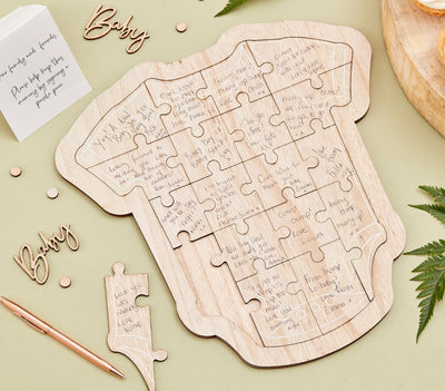 Wooden Baby Grow Guest Book