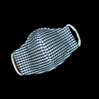 Navy Gingham Toddler Mask 3T to 5T   1 ct.
