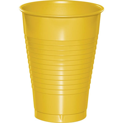12 oz School Bus Yellow Plastic Cups 20 ct
