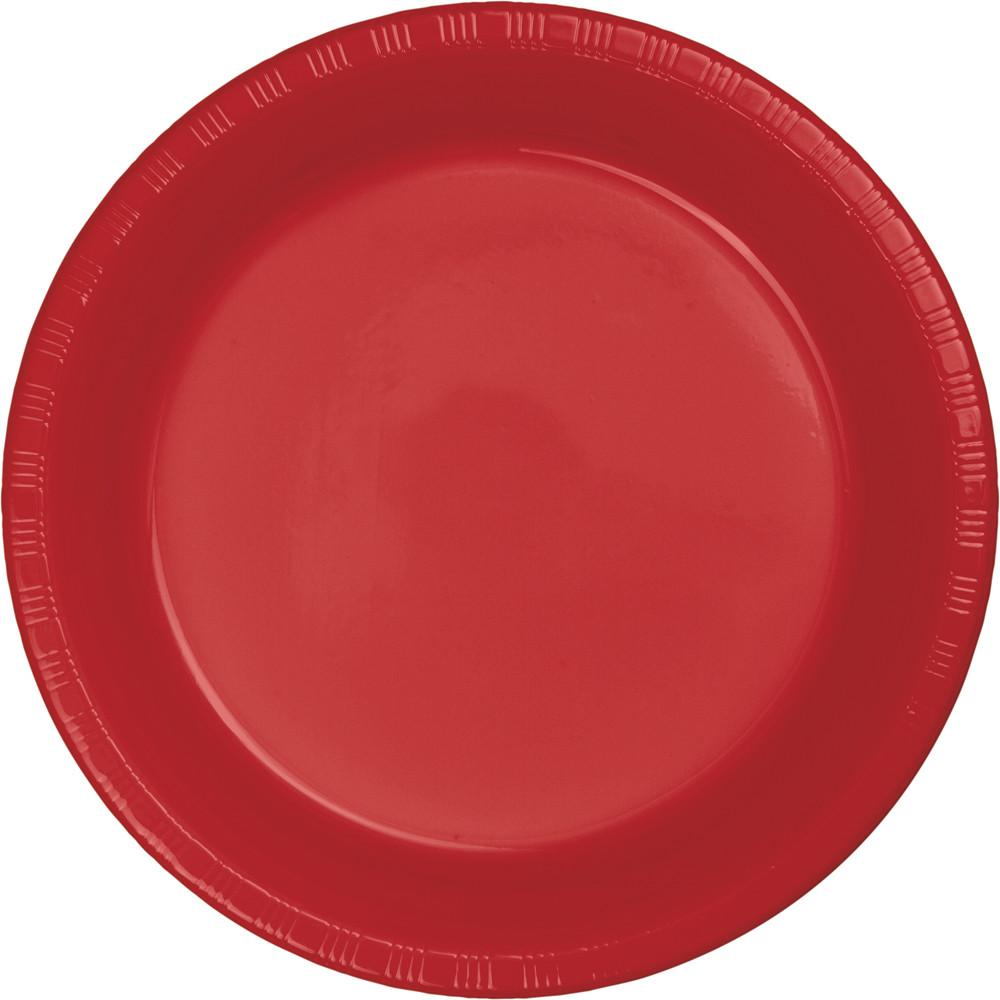 9 in. Classic Red Plastic Lunch Plates 20 ct