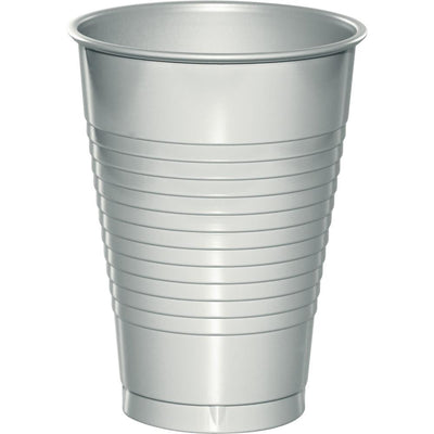 12 oz Shimmering Silver Plastic  Cups 20 ct
