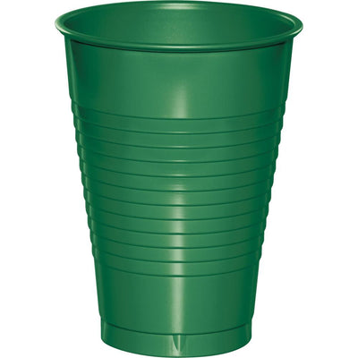 12 oz. Emerald Green Plastic Cups 20 ct.