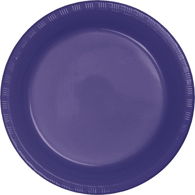 7 in. Purple Plastic Dessert Plates 20 ct