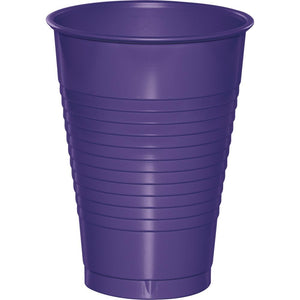 12 oz Purple Plastic Cups 20 ct