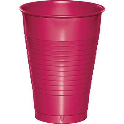 12 oz Hot Pink Plastic Cup 20 ct