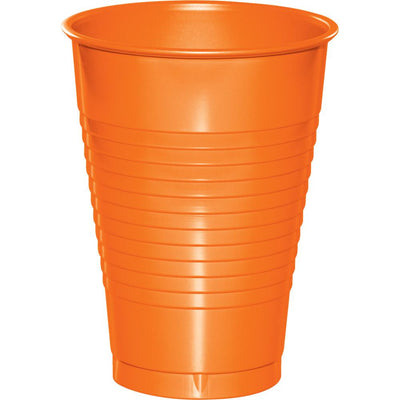 12 oz Sunkissex Orange Plastic Cups