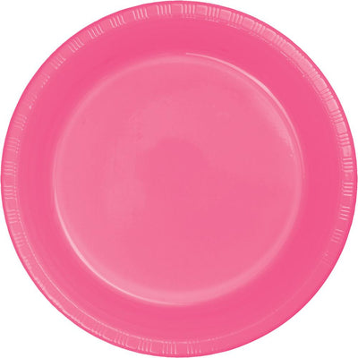7 in. Candy Pink Dessert Plates 20 ct