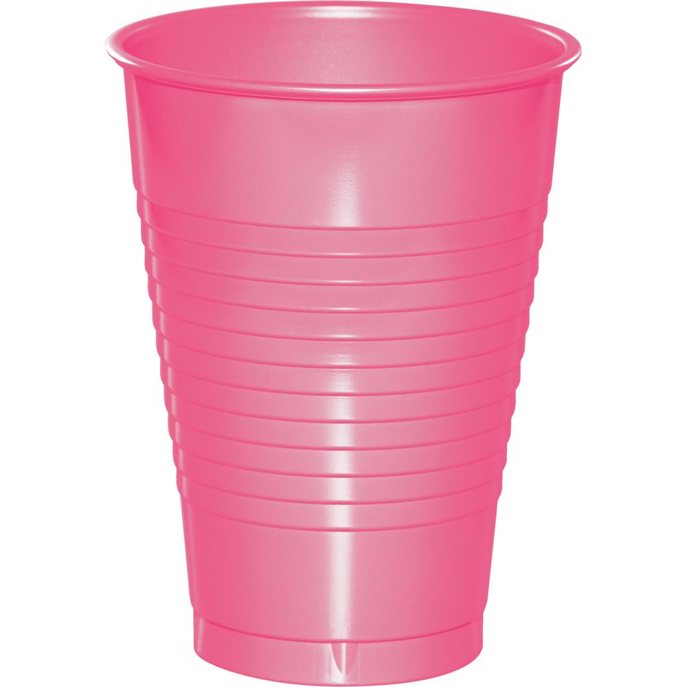 12 oz Candy Pink Plastic Cup 20ct