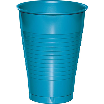 12 oz Turquoise Plastic Cups 20 ct