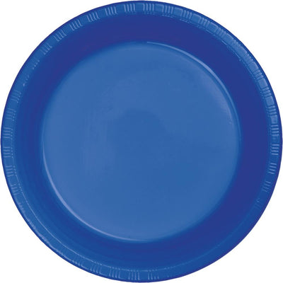 9 in. Cobalt Blue Lunch Plastic Plates 20 ct.