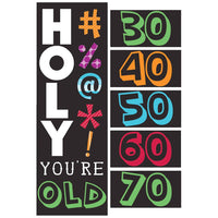Holy Bleep Giant Party Banner w/Stickers 1 ct.
