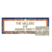 Hollywood Lights Giant Banner with Stickers  1 ct.