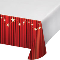 Hollywood Lights Plastic Tablecover 54 in. X 102 in.   1 ct.
