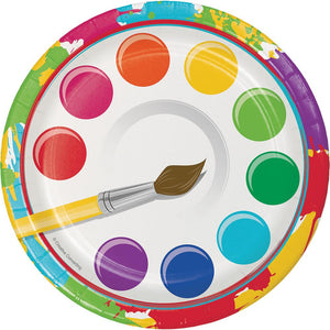7 in. Art Party Paper Plate 8 ct