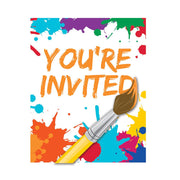 Art Party Invitation 8 ct