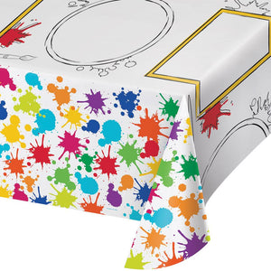 Art Party Tablecover 54 in. X 96 in.