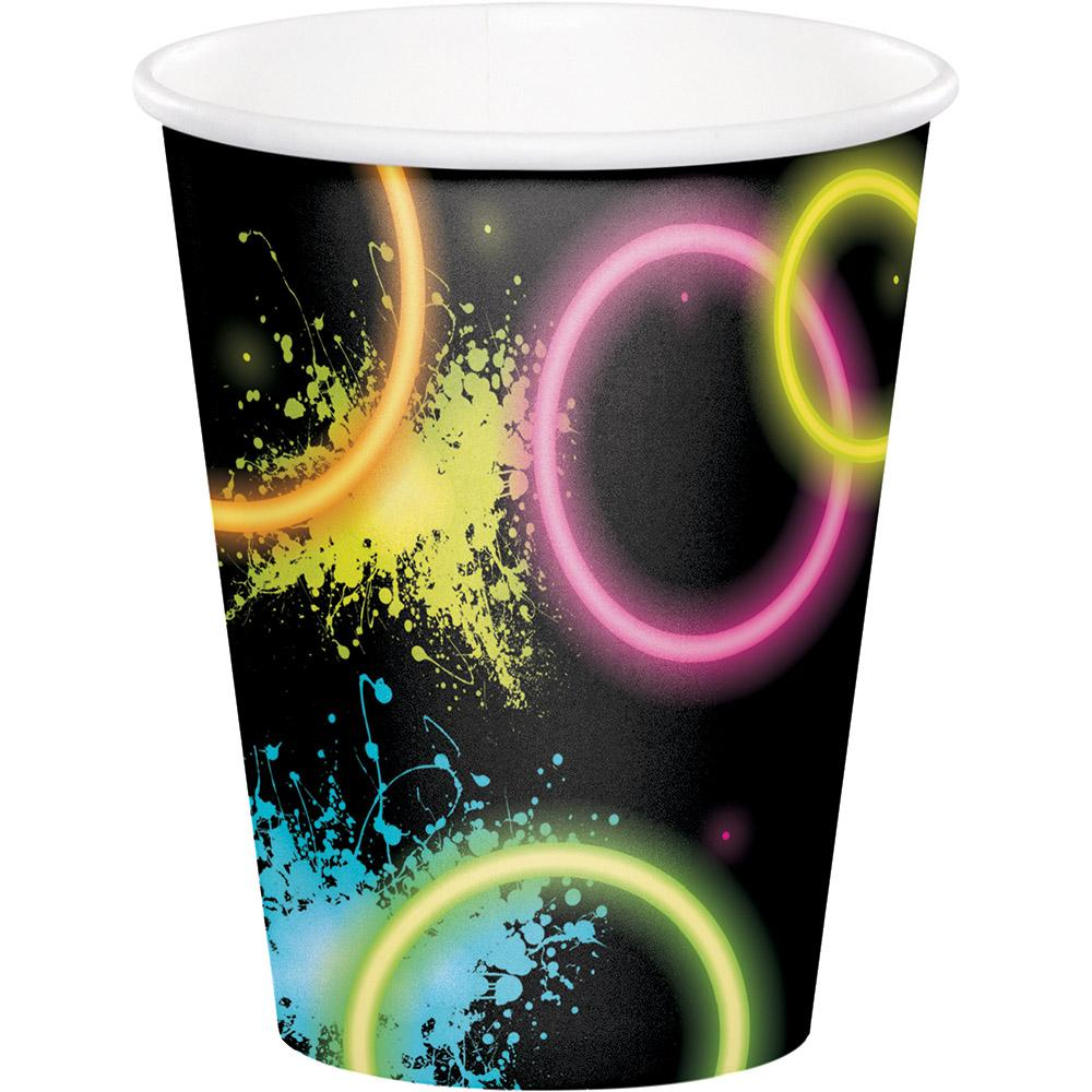 9 oz. Glow Party Paper Cups 8 ct