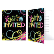 Glow Party Invitation 8 ct.