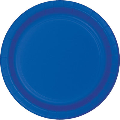 9 in. Cobalt Blue Lunch Paper Plates 75 ct.