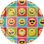 9 in Show Your Emojions Paper Plate 8 ct