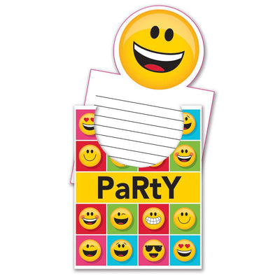 Show Your Emojions Invitation Popup 8 ct.