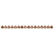 Poop Emojions Shaped Ribbon Banner 5.5 in. X 66 in. 1 ct.