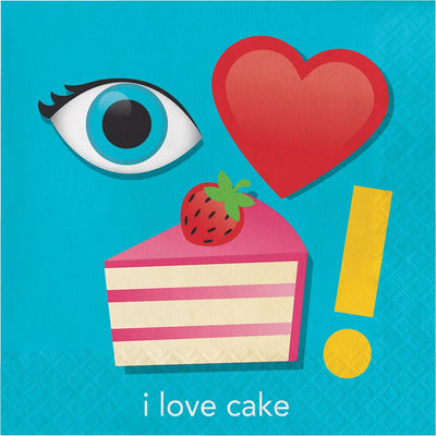 I love Cake Luncheon Napkins 16 ct.