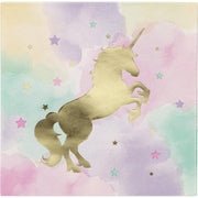 Unicorn Sparkle Foil Stamp Luncheon Napkins 16 ct.