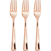 Metallic Rose Gold Forks 24 ct.