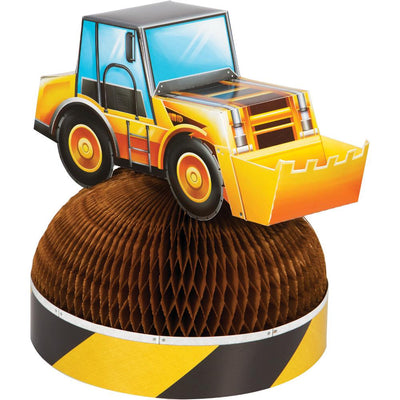Big Dig Construction 3D Honeycomb Centerpiece 1 ct.