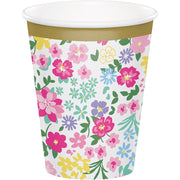 9 oz. Floral Tea Party Paper Cups 8 ct.