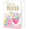 Floral Tea Party Invitations 8 ct.