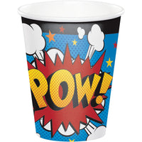 8oz. Superhero Slogans Cups 8 ct.