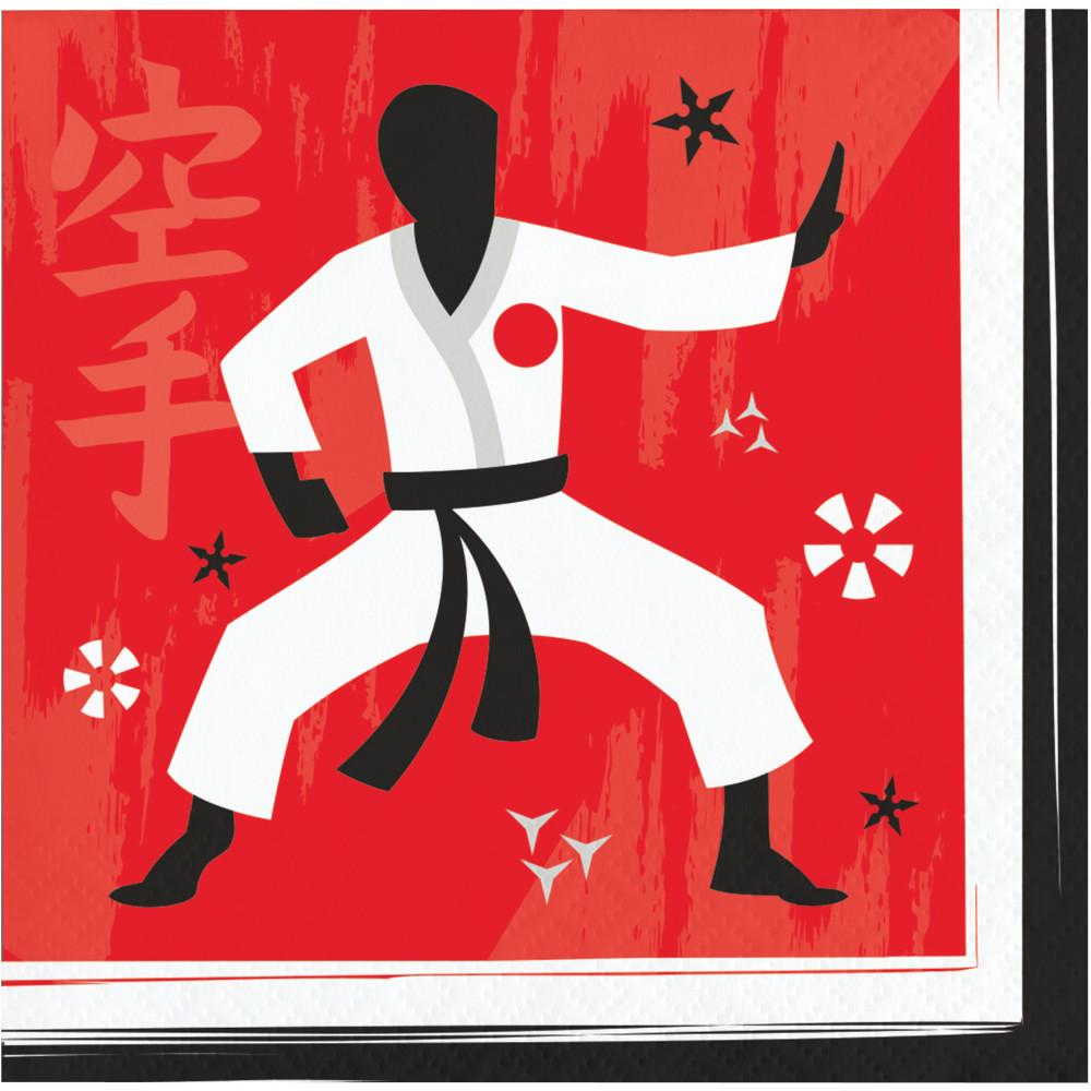 Karate Party Beverage Napkins 16 ct.